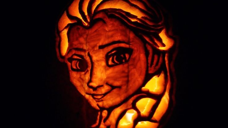 Elsa Scrape Pumpkin
