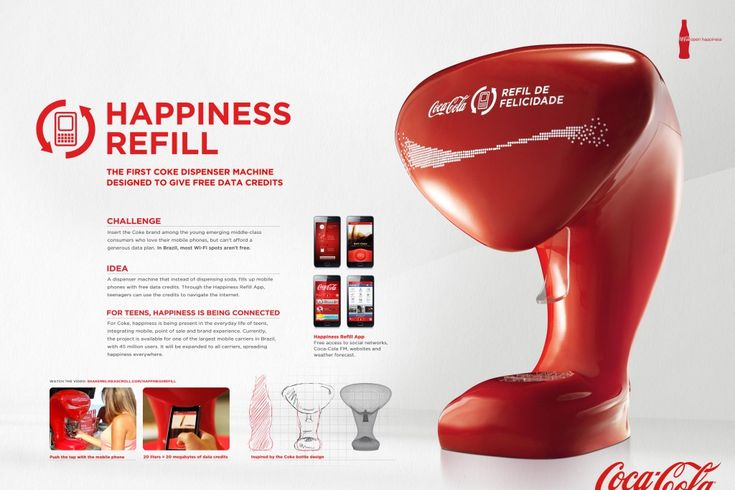"""Coca-Cola - """"Happiness Refill (Board)"""" Cannes Lions International Festival of Creativity 2012"""