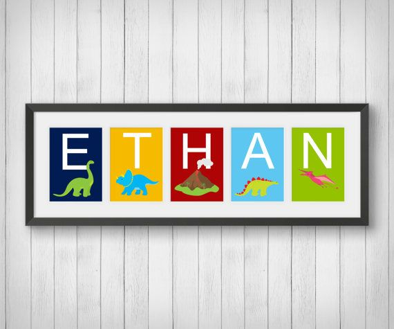 Hey, I found this really awesome Etsy listing at https://www.etsy.com/listing/209342945/dinosaur-art-personalized-name-print-boy