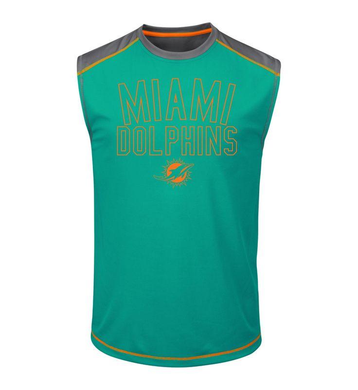 NFL Men's Muscle T-Shirt - Miami Dolphins, Size: Medium, Blue