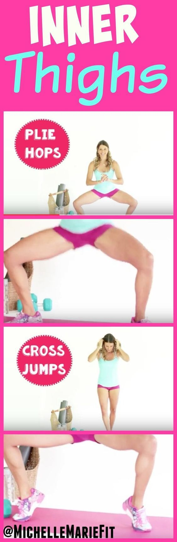 This is a great inner thighs workout that you can do at home. You don't need any equipment. If you do exercises with resistance, like these, you will get you the best results.