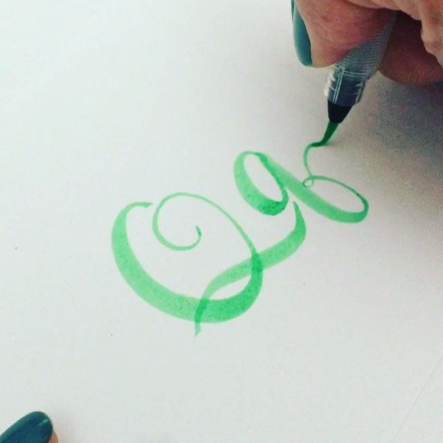 "Here's my letter ""Q"" for #letterarchive #letterarchive _q Video speed x2 Pen: Pentel waterbrush in small"