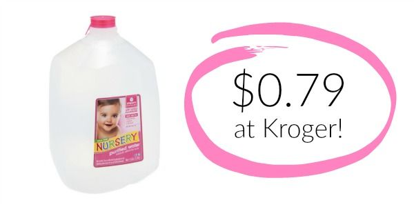 Kroger: Nursery Water Only $0.79! (RARE Coupon!)