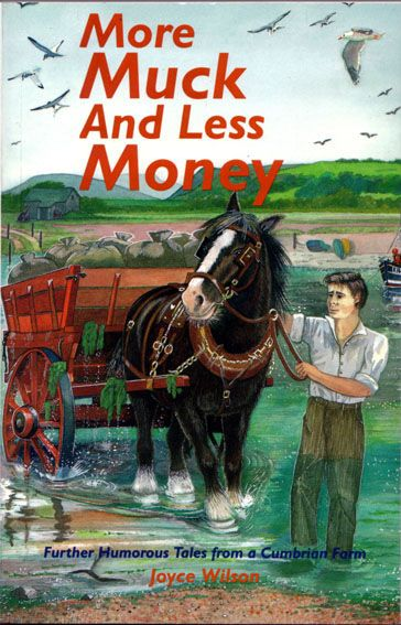Cover of book published locally with reminiscences and stories about Cumbrian characters, watercolour and gouache