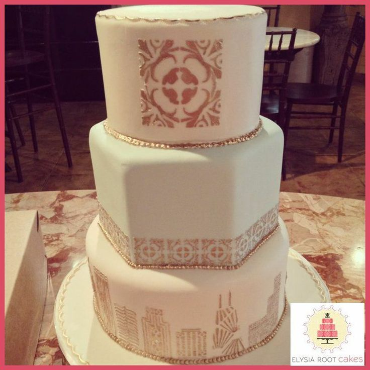 chicago skyline wedding cake elegant wedding cake inspiration