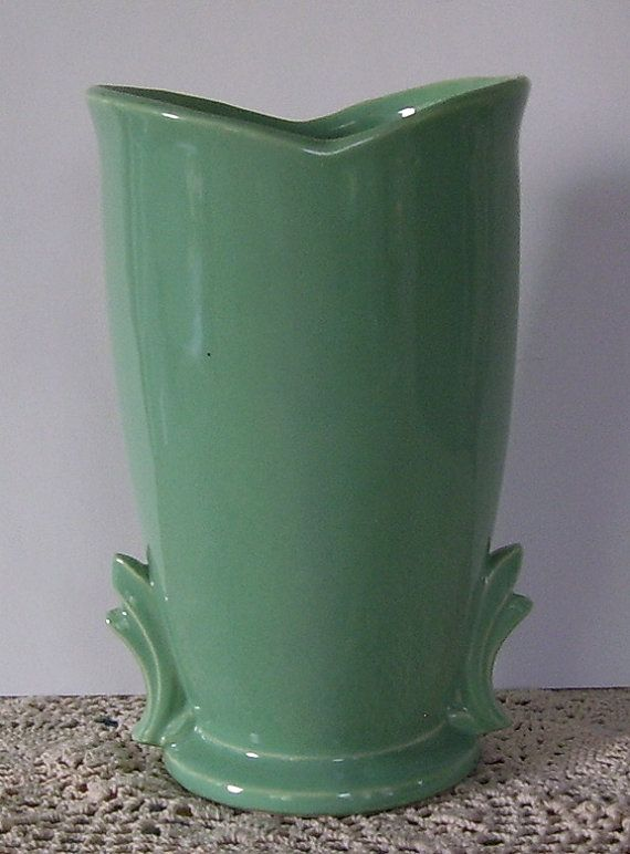 Green McCoy Pottery Vase