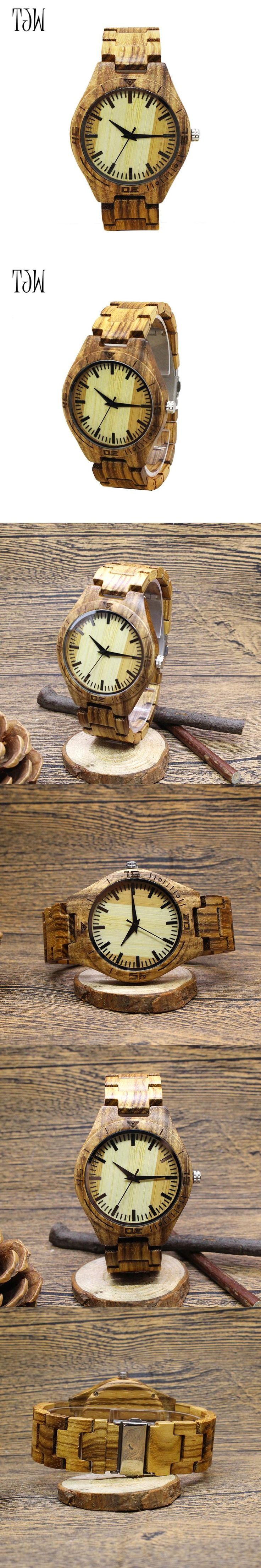 TJW2017 Hot Sale japanese movement wristwatches bamboo wooden watches for men and women