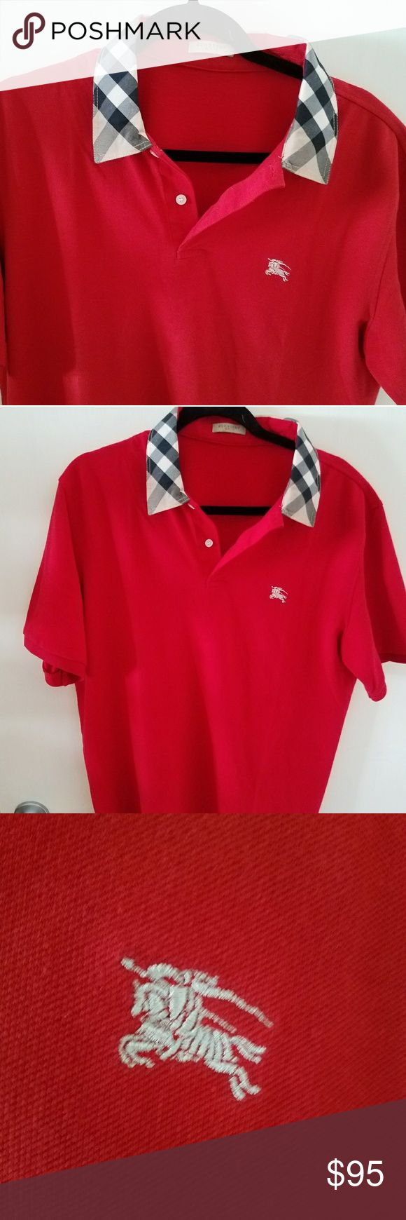 """100% Authentic Burberry Brit polo Shirt. Very Rare 100% Authentic Burberry Brit polo Shirt. Very Rare! This is a UK exclusive, not available in the USA!  No size tag, but equal to USA Large or XL Slim  Like New. Worn once for an Hour. MINT condition!  23"""" Armpit to armpit. Please compare (SEE Last Pic)  Better Price through PPal Text me  Eric 925-984-1655  Low-ball offers will be ignored, sorry no trades  If you have an offer, make an offer, don't comment and ask if I'll take a certain…"""