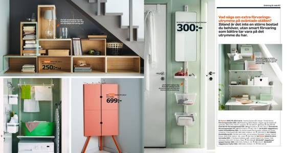 IKEA Katalogen 2015, smart förvaring för trånga utrymmen o snedtak