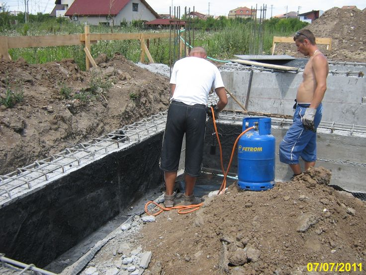 How to hydroisolate a house foundation