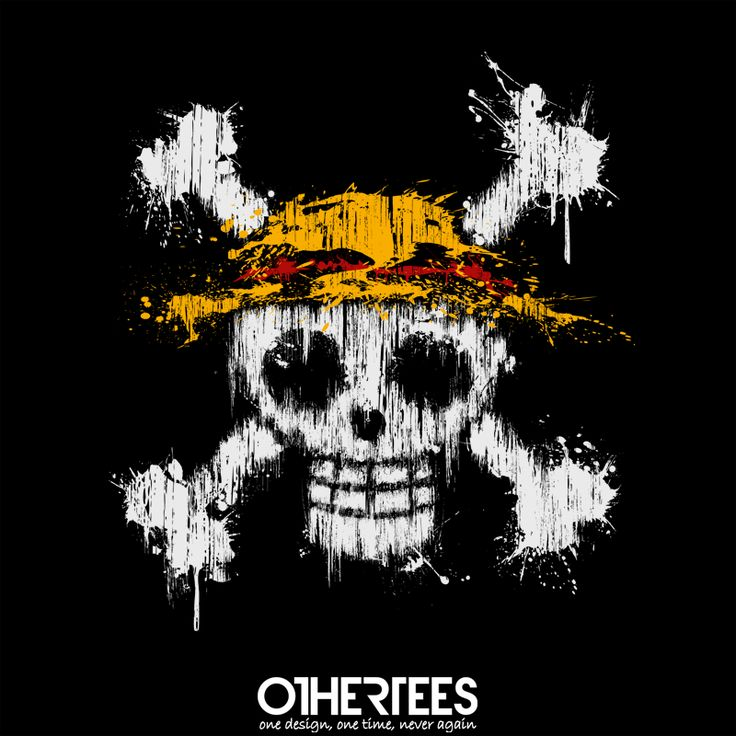 """""""Pirate!"""" by Theduc on sale until 13th August on othertees.com Pin it for a chance at a FREE TEE! #onepiece #manga #anime #skull #skulls #mugiwara #monkeydluffy #zoro #nami #pirate #pirates"""