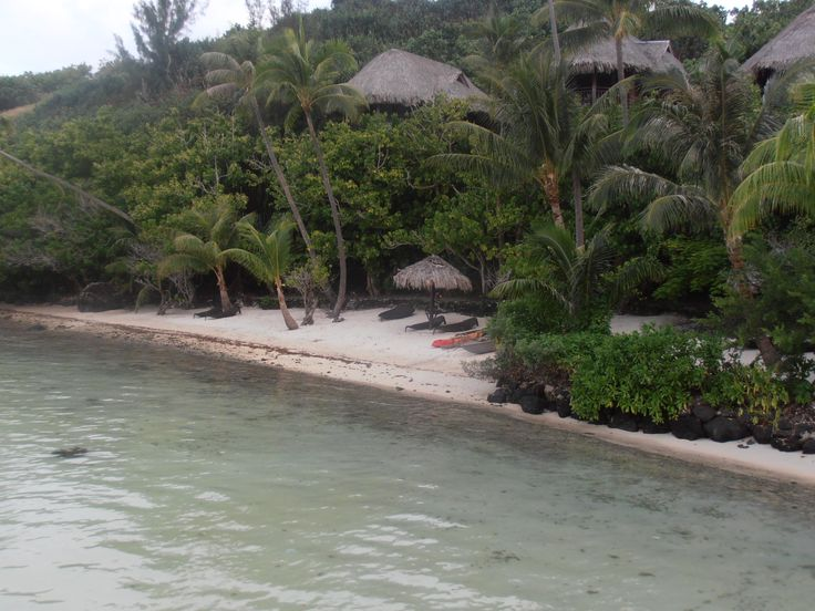 Private Beach At Crystal Clear Water At Sofitel Bora Bora Private Island  Resort. Honeymoon And