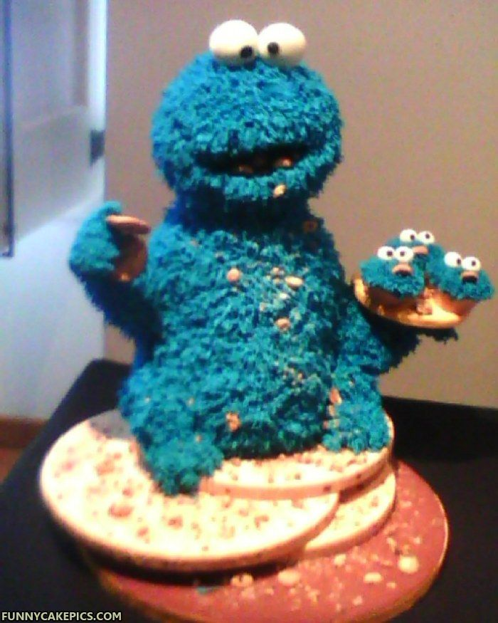 Amazing Cookie Monster Cake