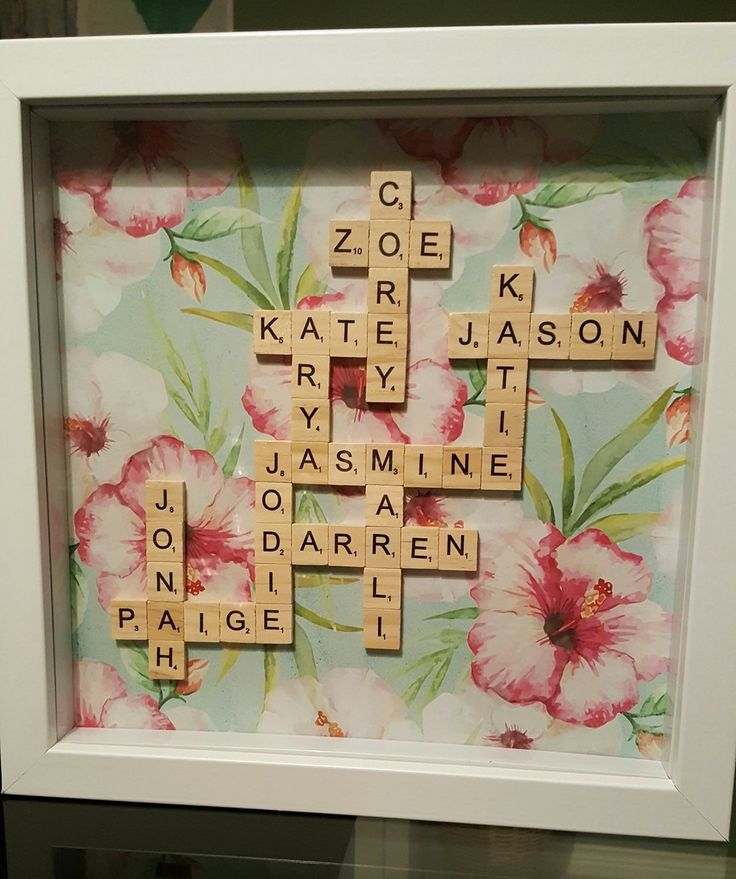 Kmart shadow box and scrabble tiles