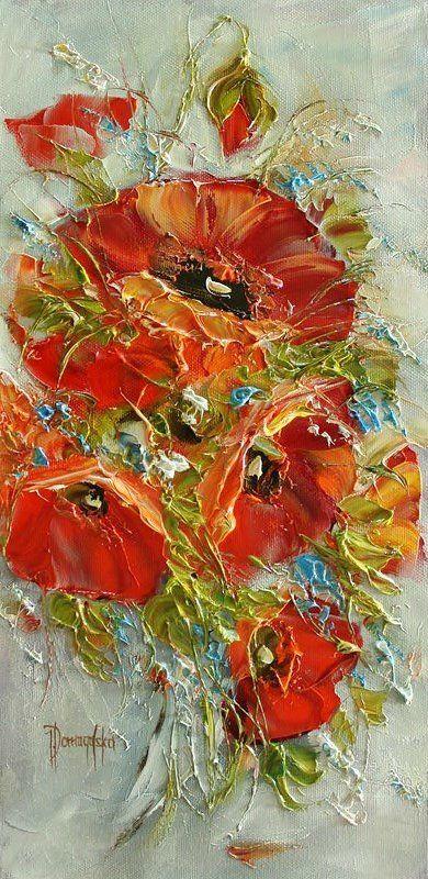 Joanna Domagalska (Джоанна Домагалска, Poland painter) - Роскошь цветочного букета. Обсуждение на LiveInternet - Российский Сервис Онлайн-Дневников