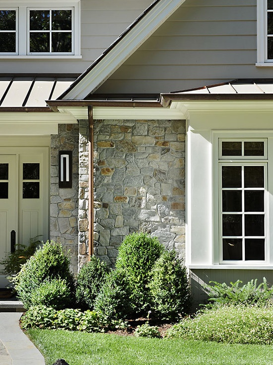 1000 images about exterior remodel on pinterest for Exterior 2 story house galvanized tin cedar stone