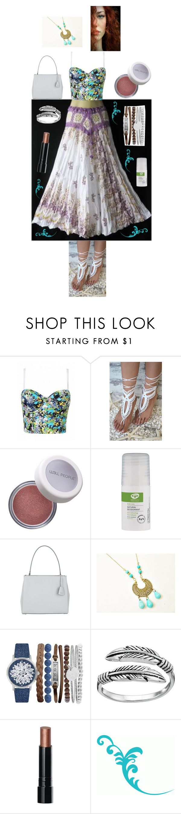 """Boho babe"" by brooklynjadetoni ❤ liked on Polyvore featuring W3LL People, Green People, Abro, Jessica Carlyle, Primrose and Bobbi Brown Cosmetics"