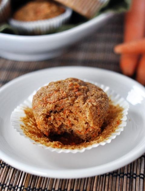 Healthy Applesauce Carrot Muffins {i.e. Carrot Cake Muffins}
