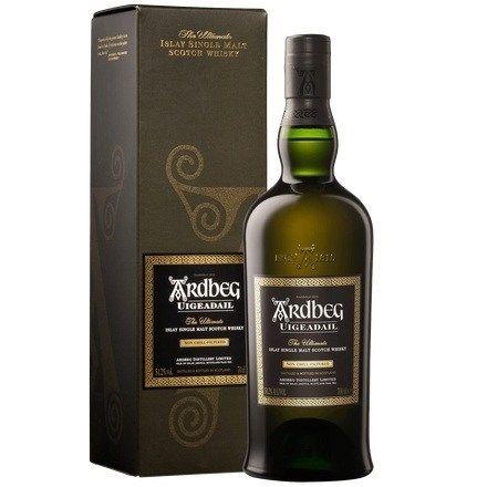 Ardbeg `Uigeadail` Single Malt Scotch Whisky (6 x 700mL giftboxed), Islay.