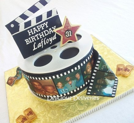 Hollywood Themed Cake - by DeliciousDeliveries @ CakesDecor.com - cake decorating website