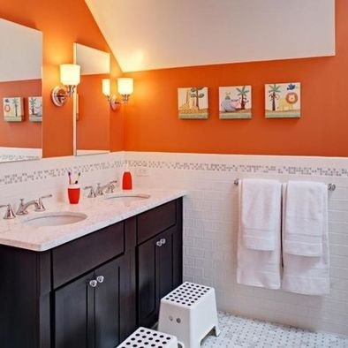 The Orange Wall Paint Is Benjamin Moore Pumpkin Cream