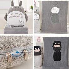 Tek Parça Sevimli Japon Anime Komşum Totoro Bebek + Battaniye Karikatür Battaniye Bulmaca Oyuncaklar Sevimli Totoro Peluş Oyuncaklar Için çocuk(China (Mainland))