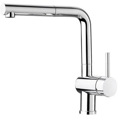 Blanco 403826 posh kitchen faucet with pullout spray for Faucet soap dispenser placement