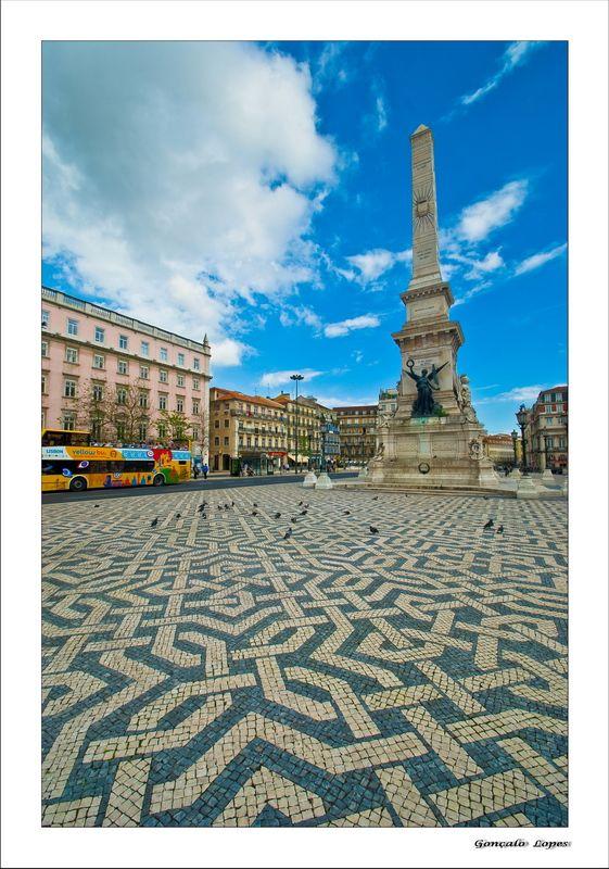 Restauradores memorial Restoration Square #Lisbon Portugal