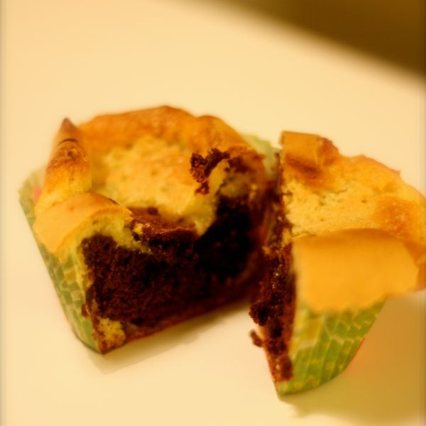 Chokladvaniljmuffins