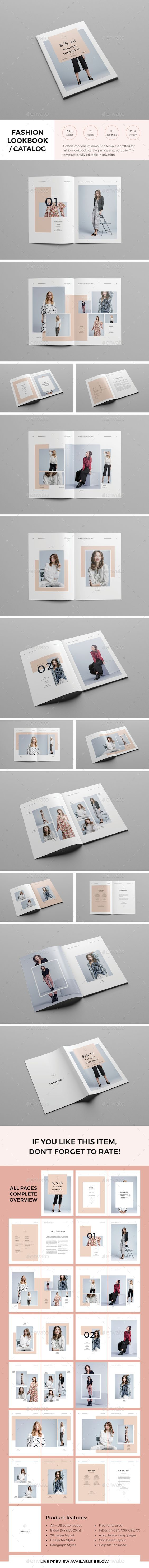 Lookbook Template InDesign INDD. Download here: http://graphicriver.net/item/lookbook-template/15315869?ref=ksioks: