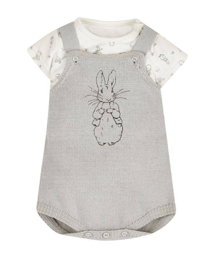Peter Rabbit Bodysuit and Knitted Dungarees