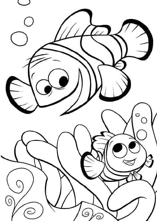 finding nemo and father coloring pages finding nemo coloring pages kidsdrawing free coloring