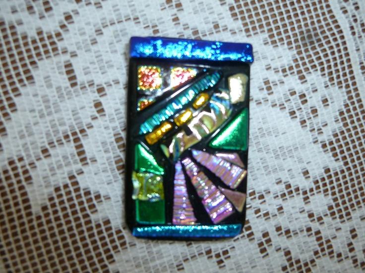 Stunning Fused Glass Broach/Pendant. $19.00, via Etsy.