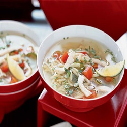 Yucatán-Style Chicken, Lime, And Orzo Soup
