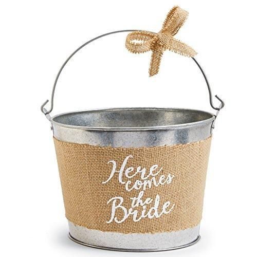 "Mud Pie ""Here Comes The Bride"" Flower Girl Pail"