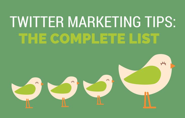 Twitter Marketing Tips: The Complete List http://rite.ly/jYgU