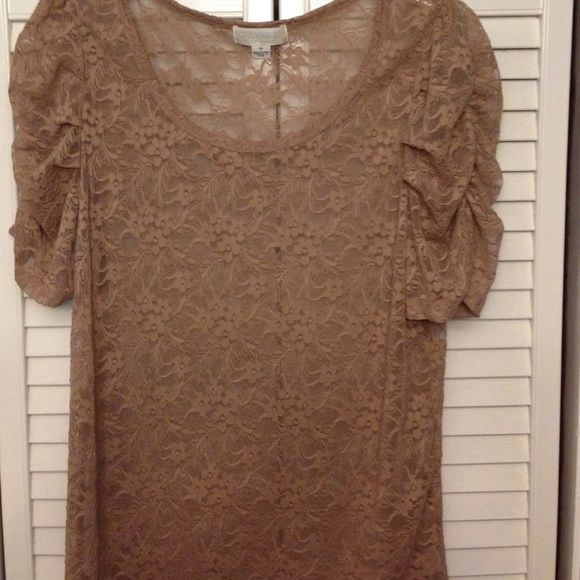 Sheer nude top Sheer nude floral print top. Forever 21 Tops Blouses