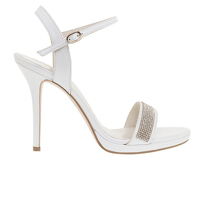 1008B31-WHITE LEATHER www.mourtzi.com #sandals #heels #mourtzi #greekdesigners  #bridal