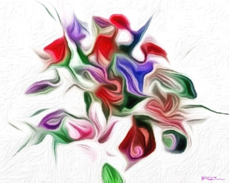Name: Bouquet 3 Author: Erik Teodoru ID number: 275 Year: 2017 Software Tool: Gimp 2.8.20 / Art Rage 5.0.3  Model: --- Original Source Image: Internet photo