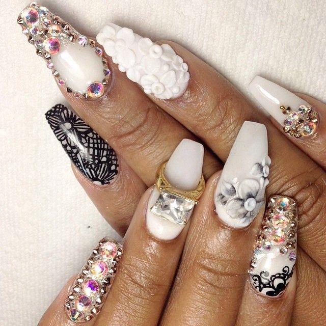 ♡black and white bling