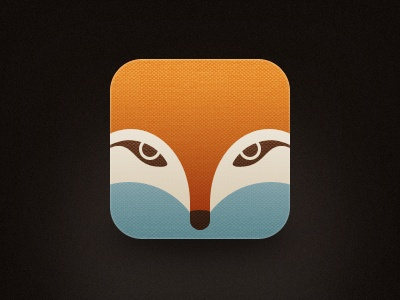 icon- I love the simple lines of this design the nice use of muted colors on this fox icon. Its effective with out to much detail.