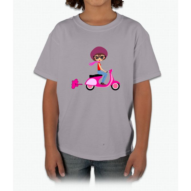 Scooter Girl Cute Young T-Shirt