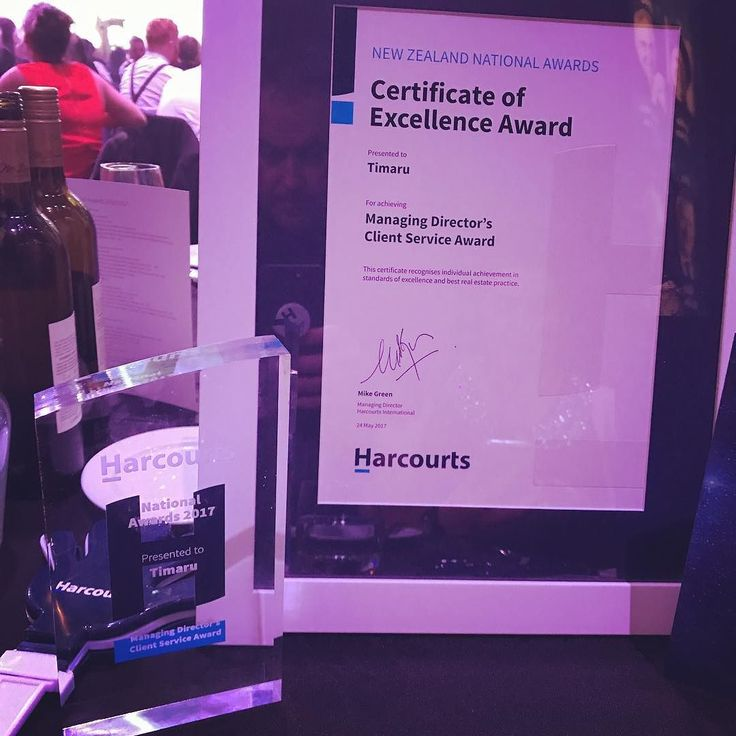 At the Harcourts National Awards and we won First Place in the Client Service Section. Based on feedback from our clients this means a lot! Thank you sooooo much! We partying tonight and back to work tomorrow! #harcourts #realestate #timaru #realesate #clientsforlife
