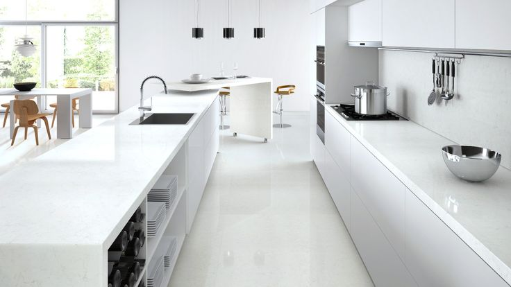 Caesarstone Visualizer Frosty Carrina Benchtop And Splashback Kitchen Pinterest