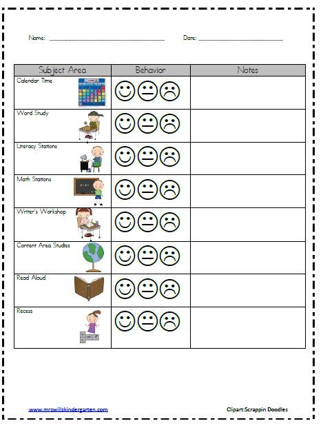 Mrs. Wills Kindergarten: Classroom Behavior.. would be great for a student that needs an individual plan: