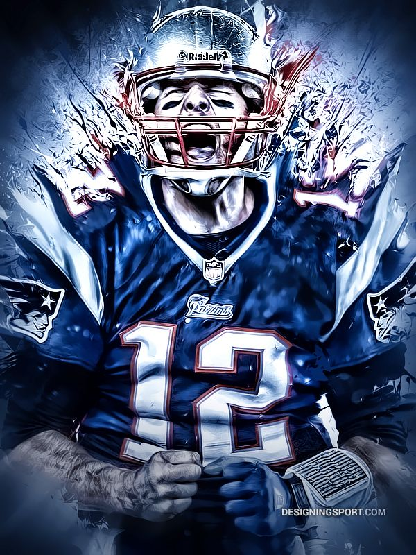 NFL: Tom Brady, New England Patriots by Matthew Sharpe, via Behance I like this…