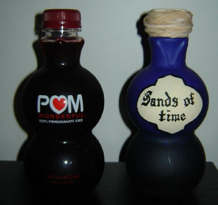 Pom bottles are great!  But I can't justify spending so much for a little bit of juice, unless I'm planning to turn it into a potion bottle.  Love this idea.