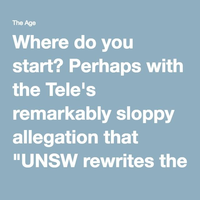 """Where do you start? Perhaps with the Tele's remarkably sloppy allegation that """"UNSW rewrites the history books to state Cook 'invaded' Australia"""". Of course, UNSW did no such thing. The reference to Cook is entirely a Telegraph invention. The guide talks of invasion but doesn't attribute it to James Cook, who had no army with which to invade. It's an extrapolation showing that not only does some editor or other know nothing about the history they're so keen to defend, but that they're also…"""
