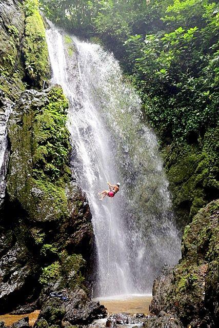 Waterfall Rappel  down King Louis Waterfall, Osa Peninsula, Costa Rica