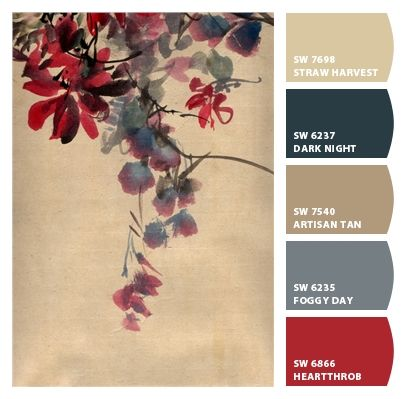 Paint colors from Chip It! by Sherwin-Williams        this is that blend of beige, gray, blue & red i've been search for  ~lrn~